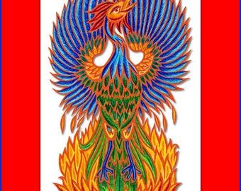 Phoenix 8 x 10 Archival Print, Mystical Phoenix Bird