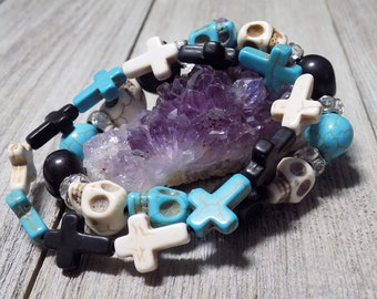 day of the dead handmade bracelets
