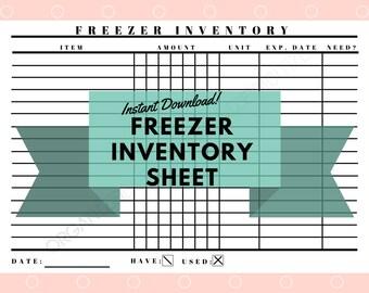 Detailed Freezer Inventory Printable