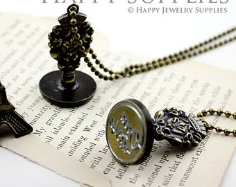 Buy 1 Get 1 Free - 1pcs 22mm Wax Seal Stamp Necklace (WS175) - Part 1