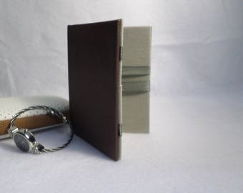 Fine extra magic wallet, Brown faux leather