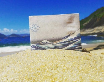 Tyvek Indestructible paper Portfolio-The great wave-handmade-handmade