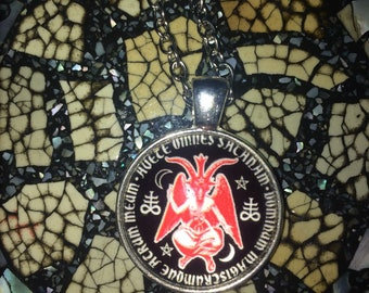 Silver Baphomet Sigil Necklace