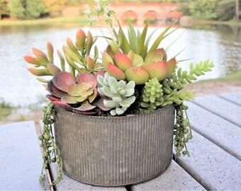 Desert Wedding Centerpiece - Faux Succulent Planter - Boho Wedding Arrangement - Rustic Modern Farmhouse Arrangement