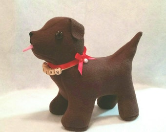 Personalized Puppy Stuffed Animal - MADE TO ORDER