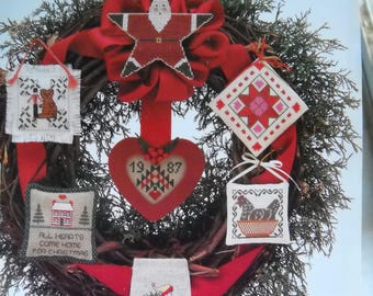 Just Cross Stitch 1987  Christmas Ornaments Issue