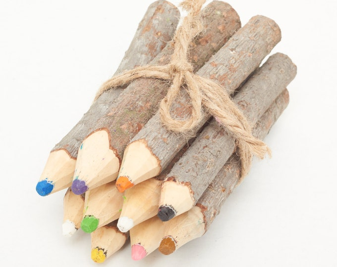 """Featured listing image: Large 6"""" Pine Crayons - Handmade in Cotopaxi, Ecuador"""