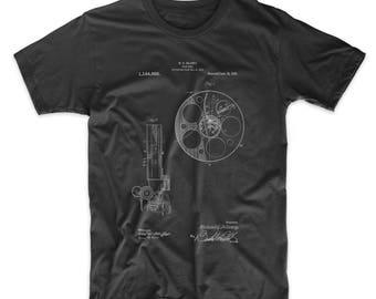 Film Reel 1915 Patent T Shirt, Movie Shirt, Vintage Movie Shirt, Cinema, Film T Shirt, Film Director, Movie Buff, PP0807
