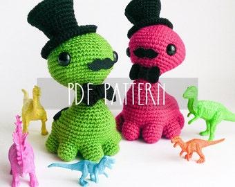 PDF PATTERN - EN - Crochet written tutorial for amigurumi softie - Octo Monster - ooak