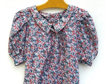 Special 1980 s Liberty of London Renato Nucci Puff sleeved Summer Top