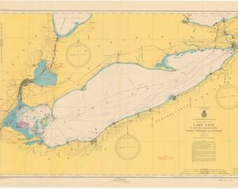 Lake Erie Map 1948