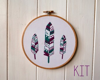 """Embroidery Kit """"Feathers"""""""