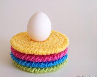 Easter Coasters Crochet Pattern, Easter Crochet Pattern, Easter Crochet Ornaments, Easter Crochet Decor, Crochet Coaster Pattern
