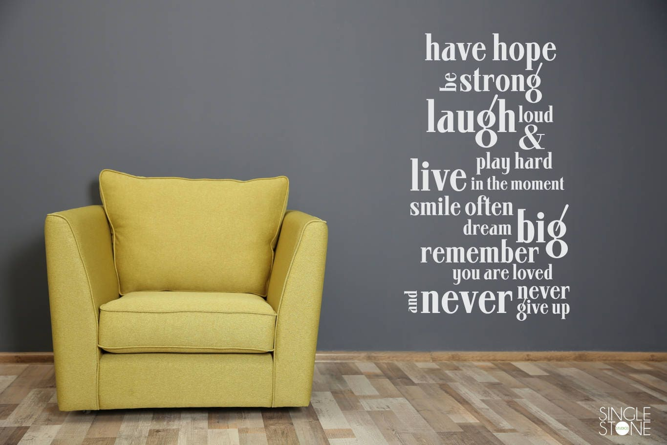 Have Hope Nursery Wall Decal Quote Vinyl Text Art Custom