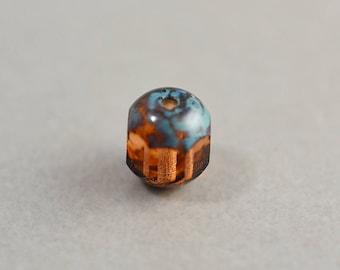 Brun Aqua perle, verre tchèque, 7mm Perle Picasso, un
