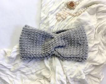 KNITTING PATTERN - Vintage Turban Headband, Knit your own Fall/Winter Headband Earwarmer, Worsted, DK, Downloadable Knitting pdf