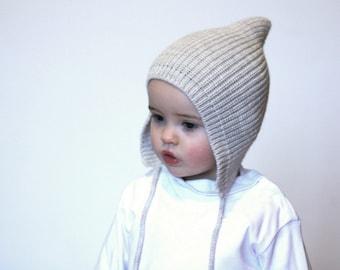 Pixie knit hat - Baby Pixie bonnet - Knitted hat Pixie  - Elf knit hat