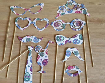 Accessories Photobooth - themed Sugar Skull - 10 Accessories Kit-