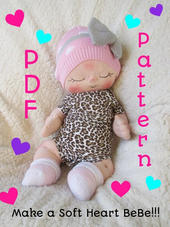 Sewing Doll Patterns Cloth Doll Pattern PDF Pattern- How to Make a ...