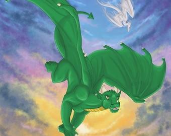 Special Edition Dragon Calling Character Postcard (Design 1, Laeka'Draeon the Dragon)