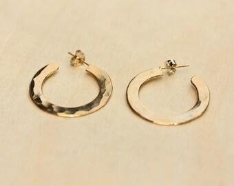 Gold Hammered Hoops, Hoop Earrings, Hoop Earrings, Gold Hoops, Round Earrings, Gold Circle Earrings, Small Gold Hoops, Round Gold Hoops