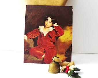 Red Boy Lithograph, Sir Thomas Lawrence Master Lambton The Red Boy, Unframed Art Print, Vintage Wall Art, Nursery Decor