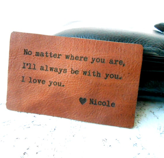 Gifts For 3rd Wedding Anniversary: Wallet Insert Card Personalized Leather Wallet Insert Card