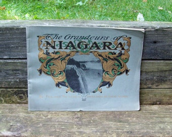 Antique The Grandeurs of Niagara by Pen and Picture Niagara Falls Pictorial Book