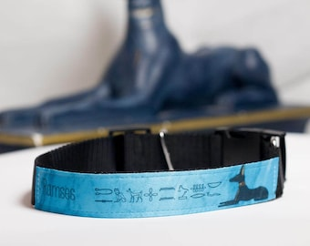 Dog Collar Anubis & Wepwawet personalized with the name of your dog
