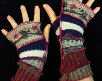 Arm Warmers - SMALL - made from upcycled sweaters