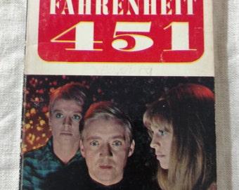 Fahrenheit 451 Vintage Paperback Ray Bradbury Movie Tie-in 1967