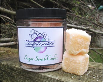 Caribbean Vacation Shea Butter Sugar Scrub Cubes Tropical Fruit