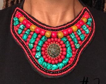 Tibetan bib necklace