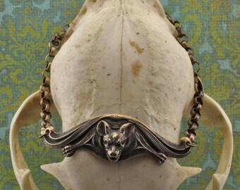 Bat Bracelet in Brass
