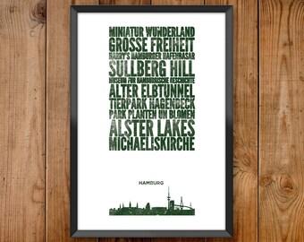 Hamburg City Print