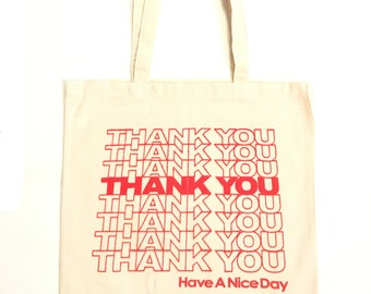 Lightweight Thank You Tote bag Canvas Bag Shopping bag Grocery Bag