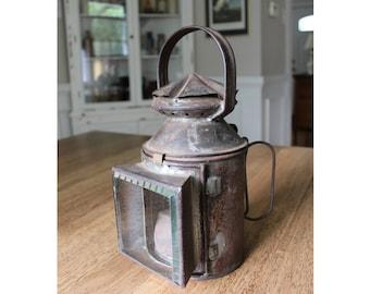 RARE Antique L&SWR London and Southwestern Railway Hand Lamp Railroad Lantern