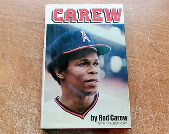 """Vintage SIGNED Baseball Hardcover, """"Carew"""" by Rod Carew, with Ira Berkow, 1979."""