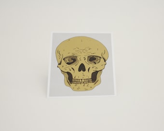 Postcard Skull illustration