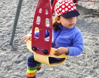 Infant & Toddler Red Big Polkadot Cycling Cap