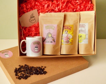 Coffee Gift Set, Coffee Gift box, Coffee Gift basket, Coffee Gifts From Sham City Roasters, Specialist Craft Coffees Roasted In London