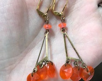 Retro Handmade Orange Earrings