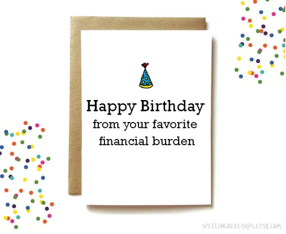 Funny birthday card for mom or dad funny parent birthday bookmarktalkfo Choice Image