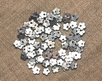 5pc - steel charms beads 6mm 4558550020956 surgical flowers