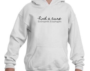 Find a Cure Eosinophilic Esophagitis EoE EE Kids' Youth Hoodie Sweatshirt - Choose Color