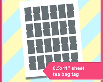 tea bag tags etsy