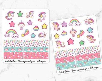 Unicorns and Rainbows Stickers//