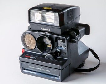 Polaroid pronto land camera sonar Onestep with Polatronic 2 Flash