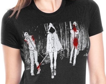 The Walking Dead T- Shirt | Michonne and Walkers