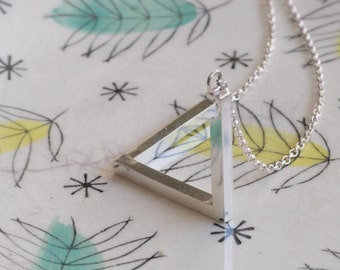 Penrose Triangle Necklace - Impossible Triangle Necklace - Silver or Bronze